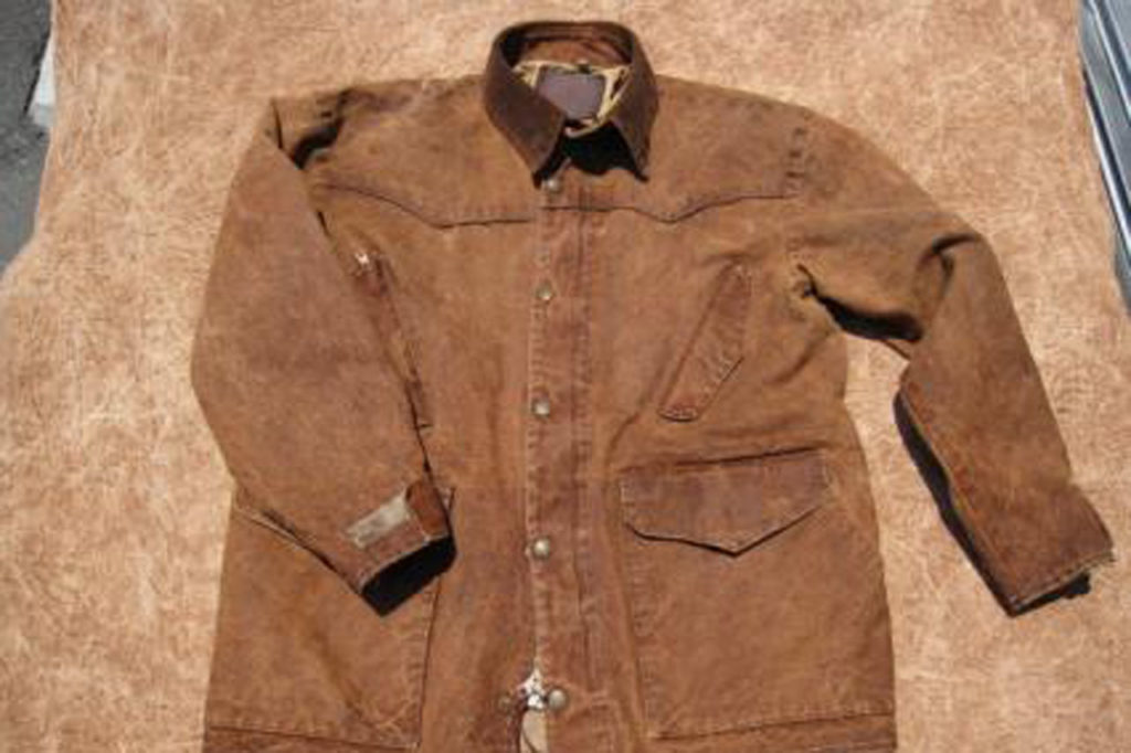 柿渋染めへリメイク前のジャケット