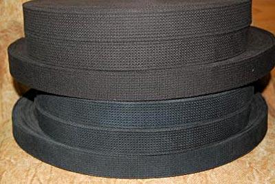 綿テープ:硫化染めにて染色(チャコールグレー)
