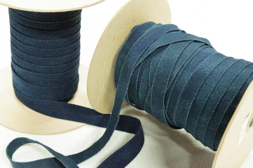 テープ染色(無地インディゴ染め):綿テープ
